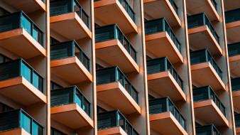 города, - здания,  дома, балкон, здания, современная, архитектура
