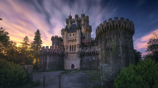 castillo de butron, города, замки испании, castillo, de, butron