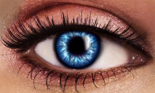 разное, глаза, взгляд, глаз, ресницы, зрачок, крупным, планом, голубой
