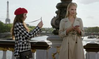 девушки, фото, мост, Париж