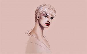 michael mobius, рисованное, люди, линда, евангелиста, лицо, модель