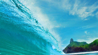 природа, моря, океаны, волна, море, остров