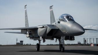 авиация, боевые самолёты, mcdonnell, douglas, f15, eagle, всепогодный, истребитель, аэродром, боевая