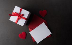 праздничные, подарки и коробочки, коробка, подарок, конверт, сердечки