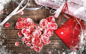 праздничные, день святого валентина,  сердечки,  любовь, сердечко, цветы, конверт, коробка, подарок