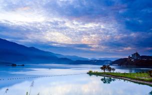 китай,  тайвань,  кнр,  наньтоу, города, - пейзажи, горы, озеро, небо, облака, здания