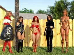 3д графика, фантазия , fantasy, девушки, фон, униформа