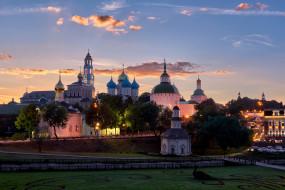 города, - православные церкви,  монастыри, cвято, троицкая, сергиева, лавра, cергиев, посад, московская, область, рпц, мужской, монастырь, православие