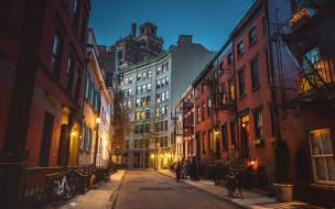 города, - улицы,  площади,  набережные, вечер, улица, здания, город