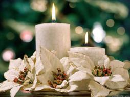 праздничные, новогодние, свечи