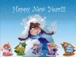 новогодняя, обоя, by, mistn, праздничные, рисованные