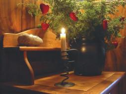 christmas, candle, праздничные, новогодние, свечи