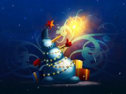 winter, miracle, праздничные, векторная, графика, новый, год