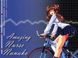 аниме, amazing, nurse, nanako, девушка, глаза, волосы