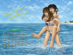 календари, аниме