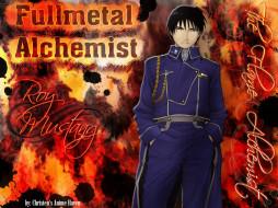 аниме, fullmetal, alchemist, mustang