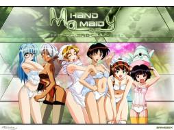 обои для рабочего стола 1024x768 аниме, hand, maid, may