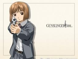 аниме, gun, slinger, girl
