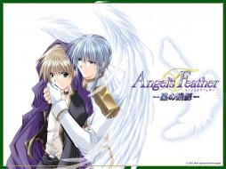 обои для рабочего стола 1024x768 аниме, angel`s, feather