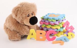 обои для рабочего стола 1920x1200 разное, игрушки, буквы, плюшевый, мишка