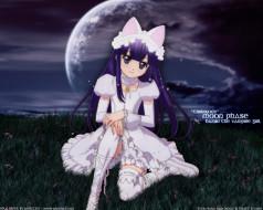 аниме, tsukuyomi, moon, phase