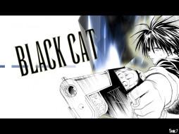 black, cat, аниме