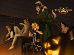 аниме, pumpkin, scissors