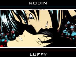 Robin x Luffy обои для рабочего стола 1280x960 robin, luffy, аниме, one, piece, monkey, d, nico