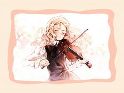 quartett, аниме, oyari ashito, музыка, скрипка, девушка