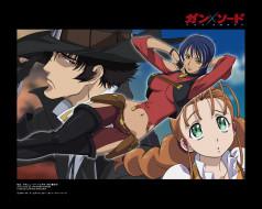 аниме, gun, sword