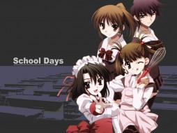аниме, school, days