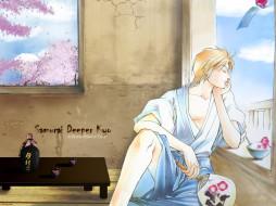 аниме, samurai, deeper, kyo