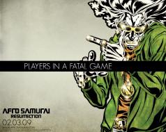 обои для рабочего стола 1280x1024 аниме, afro, samurai