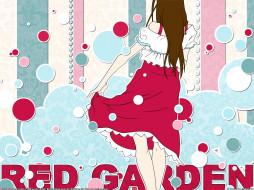 аниме, red, garden