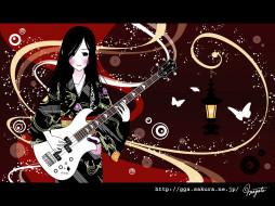 аниме, guitar, girls, addiction