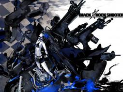 аниме, black, rock, shooter