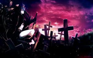 black, rock, shooter, аниме
