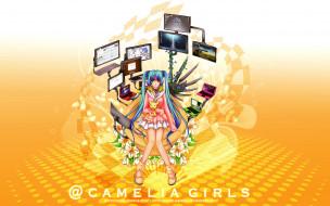 Camelia Girls (Visual Novel) обои для рабочего стола 2560x1600 camelia, girls, visual, novel, аниме, headphones, instrumental