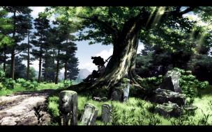 аниме, afro, samurai