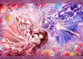 аниме, *unknown, другое, цветы