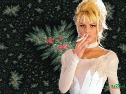 обои для рабочего стола 1024x768 -Unsort Блондинки, девушки, unsort, блондинки, ожерелье, сигарета, курение, anita blond, блузка