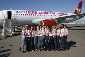 victoria's, secret, бренды, victoria`s, самолет, девушки, модели