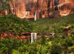 обои для рабочего стола 1800x1311 природа, водопады, поток, течение, вода, горы