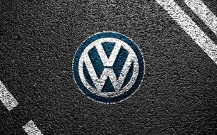 бренды, авто, мото, volkswagen, асфальт, лого, разметка