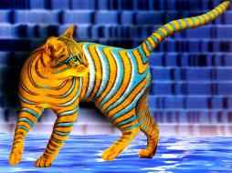 рисованные, животные, коты