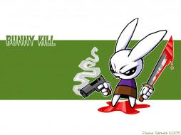 bunnykill, рисованные, животные, зайцы, кролики