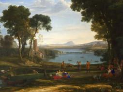 Клод Лоррен - Пейзаж с обручением Исаака и Ревекки обои для рабочего стола 1600x1200 клод, лоррен, пейзаж, обручением, исаака, ревекки, рисованные, claude, lorrain