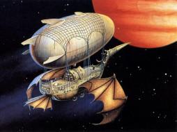 фэнтези, космические, корабли, звездолеты, станции