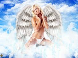 белый, ангел, фэнтези, ангелы