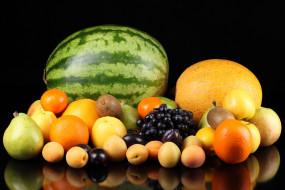 обои для рабочего стола 4368x2912 еда, фрукты, ягоды, арбуз, дыня, яблоки, груши, апельсины, виноград, абрикосы, киви, мандарины